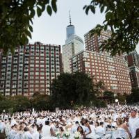 New York, cena in bianco nel parco: a tavola tra sconosciuti