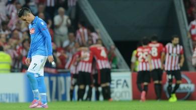 Champions,  regali ed errori Napoli già fuori  ko a Bilbao 3-1    Il fotofilm
