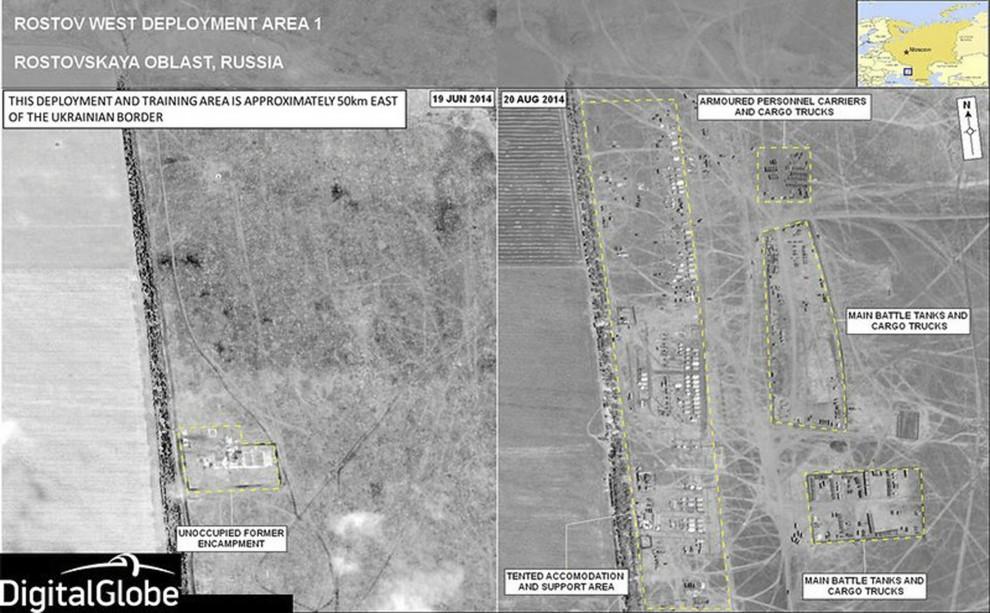 Ucraina, nelle foto satellitari della Nato la prova dell'invasione russa