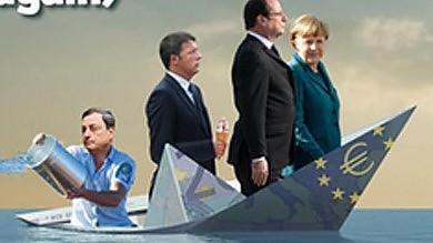 Euro che affonda, Renzi col gelato L'ironia sulla copertina dell'Economist