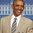 L'abito è troppo chiaro il look di Obama su Twitter