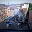 """Incendio nella notte  alla Cavallerizza Reale di Torino: """"E' doloso""""   Foto"""