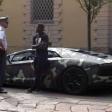 In Lamborghini mimetica e la Finanza ferma Muntari