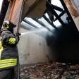 """Torino, incendio  alla Cavallerizza Reale """"E' di origine dolosa""""   foto"""