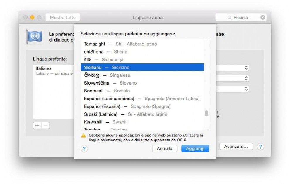 """OSX Yosemite, il nuovo sistema operativo Apple """"parla"""" napoletano e siciliano"""