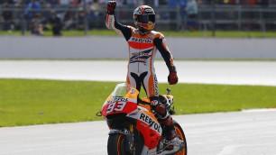 Marquez trionfa ancora duello-show con Lorenzo Buon terzo posto di Rossi