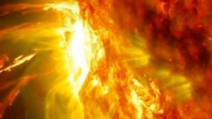 Il sole visto da vicino eruzioni da effetti speciali