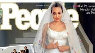 """L'abito da sposa di Angelina  """"Velo disegnato dai miei figli"""""""