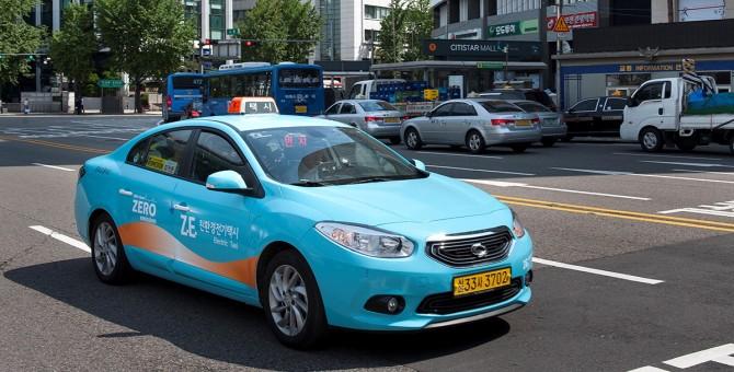 Taxi elettrici a Seoul, la nuova sfida di Renault