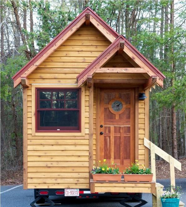 Case in miniatura con tutti i comfort nascoste nei boschi for Case particolari interni