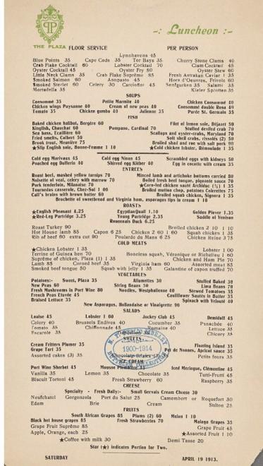 New York, la storia è servita: un secolo di menù - la ...
