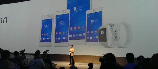 Sony sfida tutti: Z3, indossabili da polso  e anche i suoi smart glass /   Foto