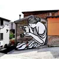 Abruzzo, il mito di Pandora è un murales