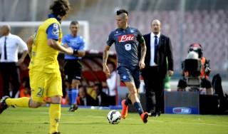 Napoli-Chievo 0-1, Maxi Lopez affonda gli azzurri