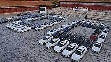 Raduno del Centenario Maserati che show