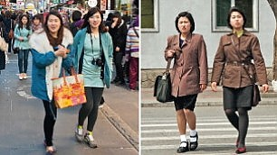Le due Coree a confronto Le differenze nel fotoprogetto