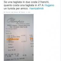 Tagliare la pizza in due? A Lugano costa due franchi. Lo scontrino finisce su Twitter