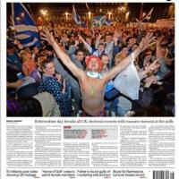 Scozia, il verdetto: le prime pagine dei giornali