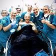 Linus, selfie in opedale ''Tutto ok con il tendine''