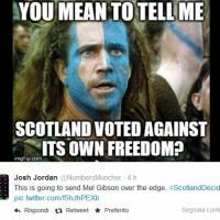 """Twitter: """"Solidarietà a Wallace"""", ironia sulla Scozia"""
