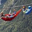 Il riposo degli equilibristi Amache sospese sulle Alpi
