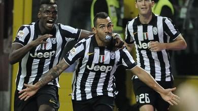 Ancora Tevez  1-0 in casa Milan E' festa Juve