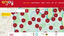 Enjoy, le 500 rosse di Eni volano su Roma e Milano