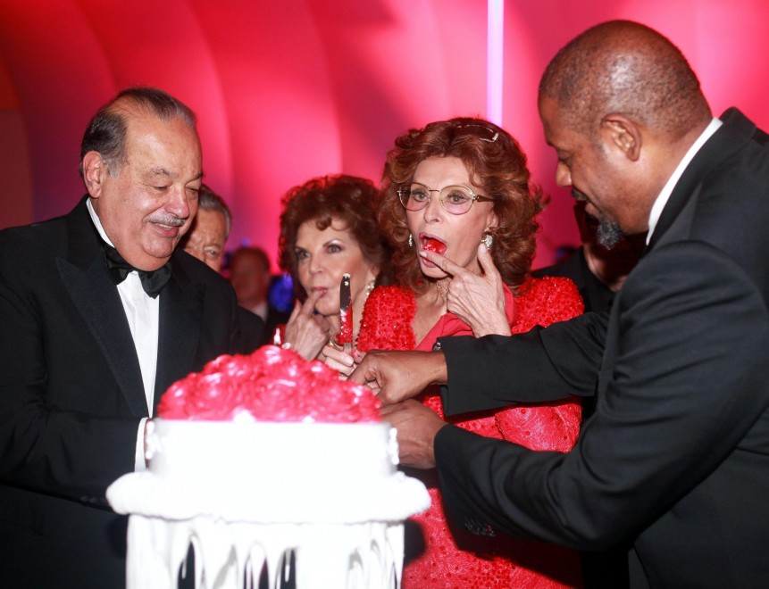 Sophia Loren, per i suoi 80 anni la festa è messicana