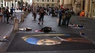 Roma, gli studenti pittori ''Così paghiamo l'università''
