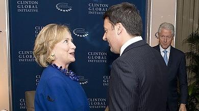 """La prima volta di Renzi all'Onu   video       Clinton: """"Hai il consenso, puoi farcela"""""""