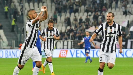 Juventus-Cesena 3-0: Vidal serve il poker bianconero