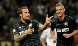 Inter-Atalanta 2-0, due prodezze di Osvaldo ed Hernanes fanno sorridere Thohir in tribuna