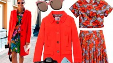 Il look della settimana: cappotto a tinte forti