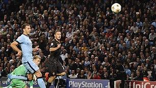 Rigore Aguero, Totti risponde Man.City-Roma finisce 1-1