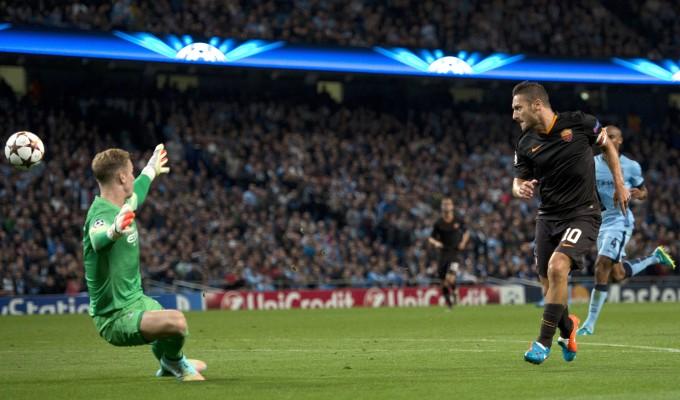Manchester City-Roma  1-1 : segui la diretta
