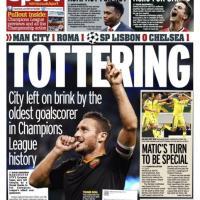 Dai tabloid al Times: Totti conquista i titoli dei quotidiani Gb