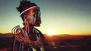 Magia del make-up e Photoshop La tribù masai rivive a Londra