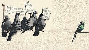 Cancellato il ''murale razzista'' Ma era un'opera di Banksy