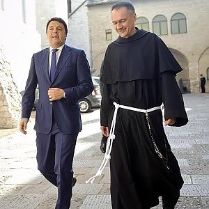 """San Francesco, Renzi ad Assisi per la festa del patrono d'Italia: """"C'è da riparare il Paese"""""""