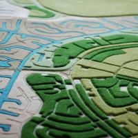 Landcarpet, la mappa satellitare a tappeto: il mondo di Pucher