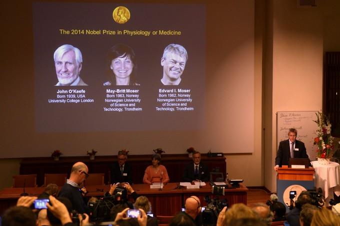 Nobel Medicina a John O'Keefe, May-Britt ed Edvard Moser per la scoperta del 'Gps' del cervello