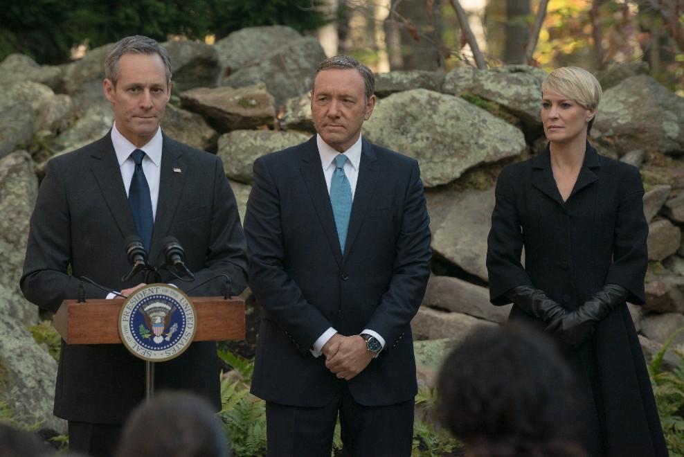 """House of Cards"" dentro la Casa Bianca con Kevin Spacey e Robin Wright"