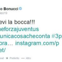 "Juve-Roma, Bonucci polemica social: ""Sciacquatevi la bocca"""