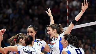 Volley Mondiali donne, Italia batte Usa 3-0: la semifinale più vicina