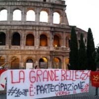 """La protesta degli studenti davanti alle """"grandi bellezze"""""""
