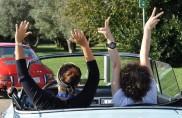 Eva al volante, spettacolo costante
