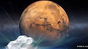 """La cometa """"sfiora"""" Marte   La simulazione     -     foto"""