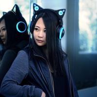 Le cuffie ''manga'' hanno orecchie da gatto