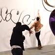 Imbratta muro con spray preso vandalo di Koons