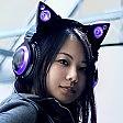 Le cuffie ''manga'' con orecchie da gatto